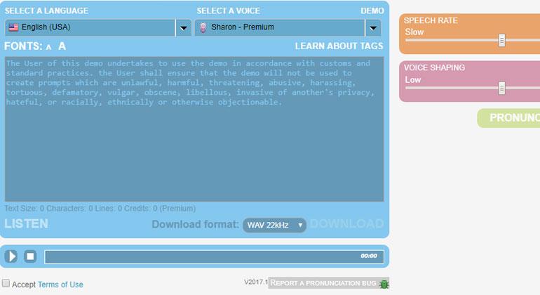 موقع تحويل النص الى كلام منطوقموقع acapelabox